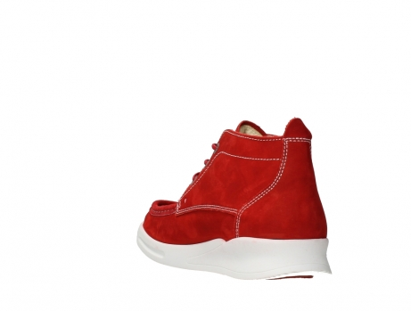 wolky bottines a lacets 05906 six 10570 nubuck extensible rouge_17