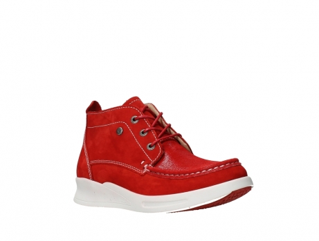 wolky bottines a lacets 05906 six 10570 nubuck extensible rouge_4