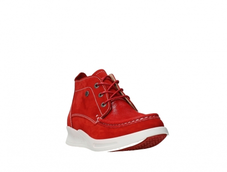 wolky bottines a lacets 05906 six 10570 nubuck extensible rouge_5