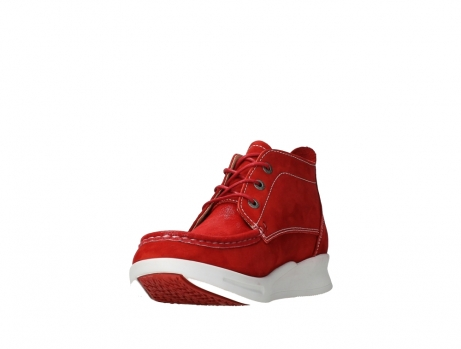 wolky bottines a lacets 05906 six 10570 nubuck extensible rouge_9